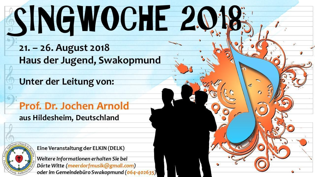 Flyer Singwoche 2018