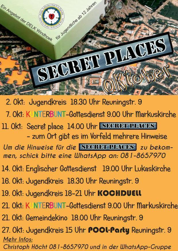 Secret Places Flyer Oktober 2018